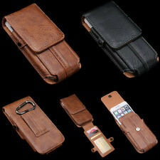 Man'sWaist Belt Clip Holster Card Wallet Carry Pouch PU Leather Phone Case Cover