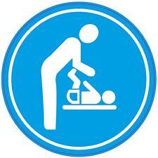 Baby SPOGLIATOI-Bagni, lavare stanza, WC, toilette-Adesivo/Segno .150 mm
