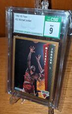 1992-93 Fleer Basketball #32 Michael Jordan CSG 9 Chicago Bulls NBA GOAT