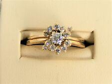 Wedding Set Ring S 8.5 H Si 1 Benchmark 14k Gold .35tcw Diamond Bridal 2 Set