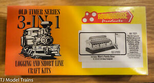 Roundhouse HO Scale Craft Kit #1521, 3-in-1 Logging and Short line