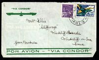 1937 Condor flown cover Brasil to UK WS10832