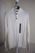 Banana Republic Wool Blend Ivory Mock Turtle-neck Sweater Size - XL
