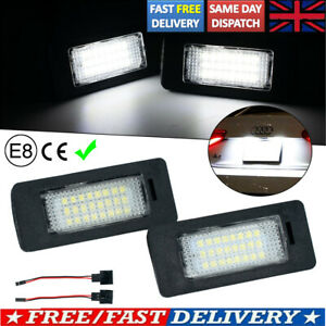 2pc FOR AUDI TT MK2 A4 S4 B8 A5 LED LICENSE Number Plate Light Error Free Units