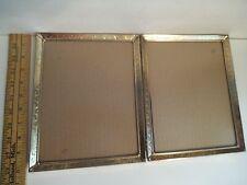 Vintage Decorative Gold Metal Picture Frame Hinged Bi-Fold 8X10