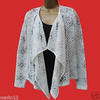 NEXT Fashion Cream Lace Waterfall Bolero Blazer Jacket Summer Casual Party Top