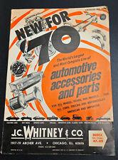 Vintage 1970 J.C. Whitney & Co. Automotive Parts & Catalog NO.274
