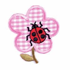 3 Ladybirds Hierro o coser en Bordado Parche Motivo Craft arreglar enmendar Cubierta Niños