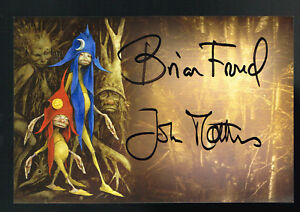 Brian Froud & John Matthews Sticker Signed by Both
