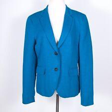 "Rag & Bone ""Bailey"" Blue Cotton/Linen Blazer Pockets 10"