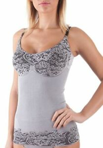 Bellissima Women's Shapewear Tank Top Lace Pattern Camisole Adjustable Straps