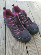 Merrell Womens Sz 9 Black Purple Oil Slip Resist Steel Toe Shoes Select Grip NEW