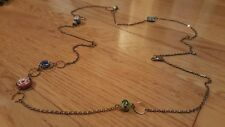 Chain Necklace w/ Various Multi-Coloured Beads