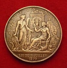 1889 Paris Exposition Centenary 1789 French Revolution France Bronze Medal N134