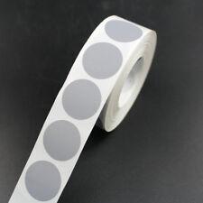 16mm Plata Redondo Adhesivo Rasca 1000 Etiquetas Pegatinas juegos tarjetas billetes