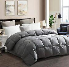 Drtoor Luxurious Down Comforter 100% Hypoallergenic Cotton Cover - Grey