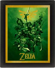 The Legend of Zelda 3D Poster Bilderrahmen Frame Link
