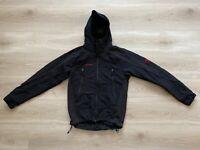 Mammut Softshell Windstopper Hooded Black Windbreaker Jacket Size- Small