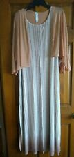 Marla Wynne Maxi Dress Women's size Medium  lined slit front Beiges with shrug