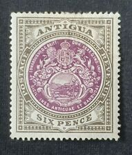 Antigua 6d Purple & Drab SG36 MH/HR No Gum