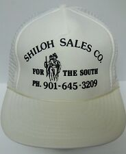 Vintage 1990s SHILOH SALES FOR THE SOUTH Tennessee ADVERTISING Snapback Hat Cap
