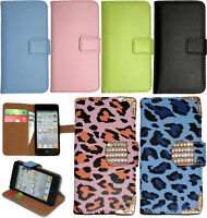 Genuine Leather Wallet Stand Case Cover For APPLE iPod Touch 5th 6th Generation