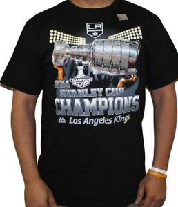"""Los Angeles Kings 2014 Stanley Cup Champions Majestic """"Dump & Chase"""" T-Shirt"""
