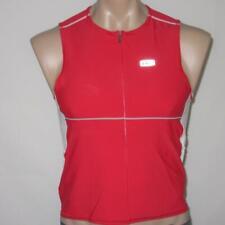 Louis Garneau LARGE Triathlon Tri Red Tank Singlet Comp Sleeveless Top Shirt