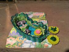 Vintage 90s Littlest Pet Shop Kenner Jump 'N Splash Frogs with Lily Pond