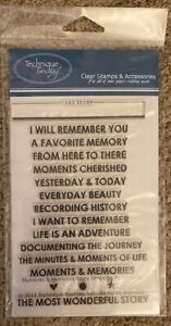 Technique Tuesday Stamp Set - MOMENTS & MEMORIES STORY STRIPS by Ali Edwards