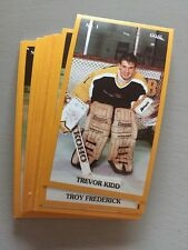 1989-90 BRANDON WHEAT KINGS WHL P.L.A.Y. TEAM SET w/ TREVOR KIDD
