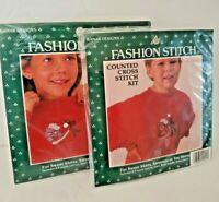 Christmas Cross Stitch Kits Cat Bear Clothing Stockings Banar Designs FSKH-23