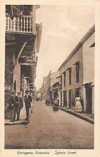 Cartagena Colombia Iglesia Street Scene Historic Bldgs Antique Postcard K23605
