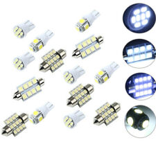 14pcs White LED Light Interior Kit for T10 & 31mm 42mm Map Dome + License Plate