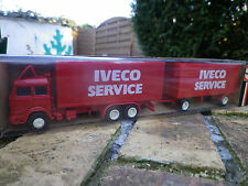 HERPA HO 1:87 810420 UNIC CAMION AVEC REMORQUE IVECO SERVICE NEUF EN BOITE