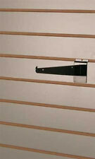 Metal Shelf Bracket 8 Inch in Black for Slatwall - Set of 10