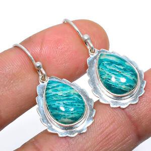 "Tiger'S Eye Solid 925 Sterling Silver Earring Handmade Jewelry 1.3"" E718-46"