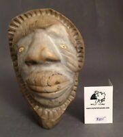 Inuit Art Eskimo carving Louie Makkituq  Face   #66517    1998