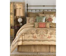 CROSCILL NORMADY QUEEN COMFORTER SET REVERSIBLE BEDDING BED ENSEMBLE NATURAL