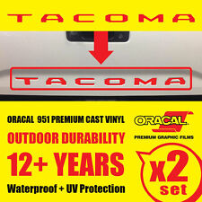 Toyota Tacoma Letters Tailgate Vinyl Decals Inlay Premium Sticker 2016 17 18 19