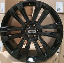 24 GMC Replica Rims Black 2018 Style Wheels Fit Tahoe Sierra Yukon Silverado G10
