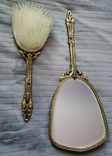 Vintage Hand Mirror And Brush 2 Pcs Mid Century