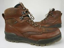 Ecco Track 25 High Lace Up Bison Leather Waterproof Gore Tex Boots Size 49 / 15