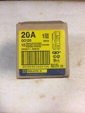 Square D Qo120 - Single Pole 20amp Circuit Breakers - Lot Of 10ea