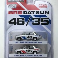 Bre Datsun 510 1971 46 & 35 Chrome Edition, Scale 1:64 by Greenlight