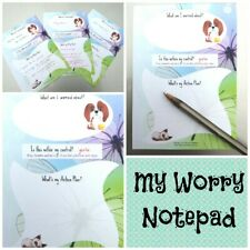 MY WORRY NOTEPAD self care 4 adults/kids/teens help with anxiety/mental health