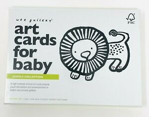 Wee Gallery Art Cards for Baby Jungle Collection 0-12 Months Flashcards Sealed