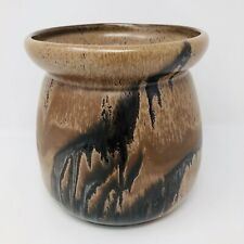 Blue Mountain Pottery Planter With Mocha Drip Glaze Vintage Canadian Pottery