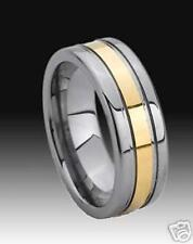 Wolfram/Tungsten Carbide ring - 8 mm de ancho-oro plated-Titan Hart - 191