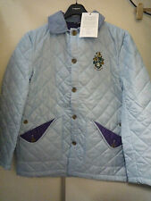 JACK ORTON SKY + PURPLE DIAMOND QUILTED JACKET COAT SIZE SMALL NEW
